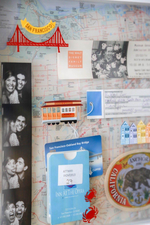 San Francisco memory travel frame - shadow box | DIY | Pinterest ...