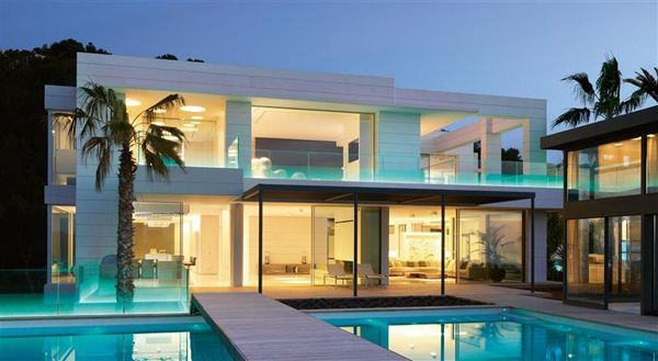 Chameleon Villa With Spectacular Sea Views In Mallorca Mansions Modern House Exterior Big Modern Houses