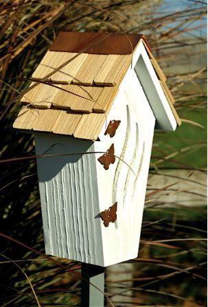 Copper Accent Bijou Butterfly Butterfly House Birdhouse Designs Decor