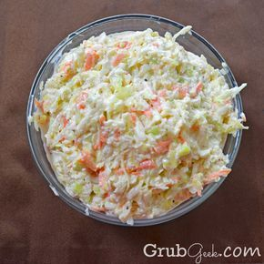 Adam - here you go.. doesn't get much more homemade than this one... you can even skip the pre made bag mix & cut up all your own veggies! I'm thinking the BUTTERMILK makes ALL the difference! KFC - ish coleslaw!