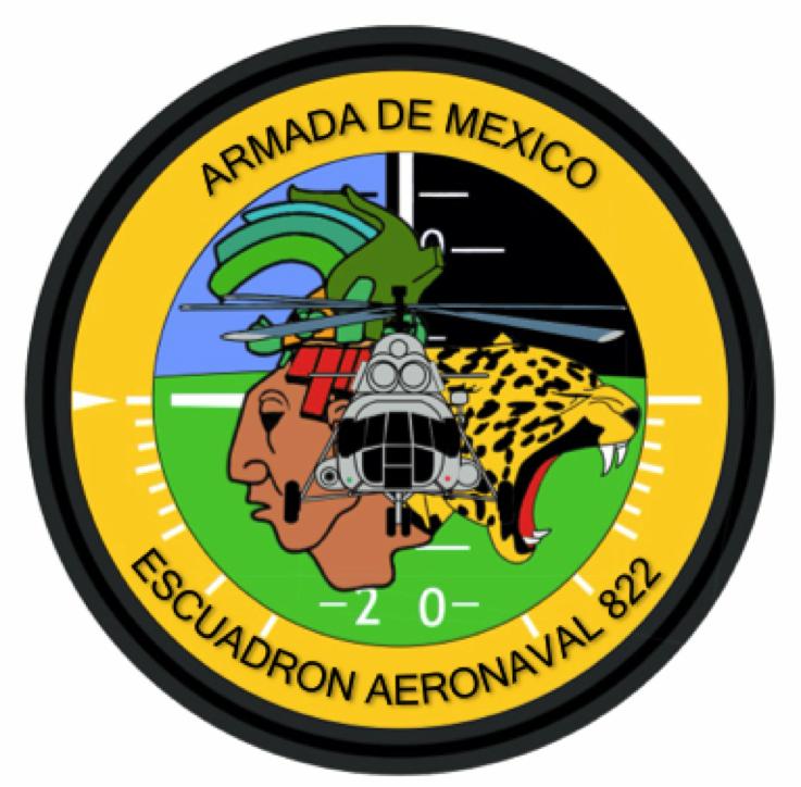 Escan 822 Armada De Mexico Escuadron Parches