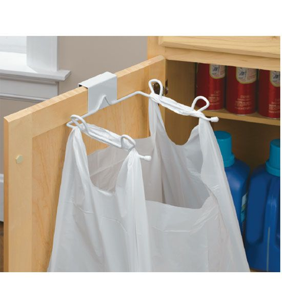 Grocery Bag Holder Over The Cabinet Door This Is A Great Product For Recycling Small Bags And You Can Add Concealed Trash Storage Inside