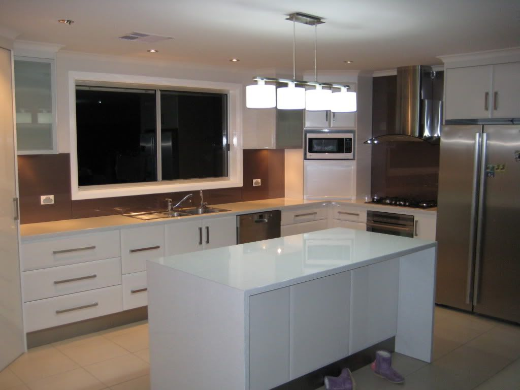Flat Pack Kitchens Adelaide Pure Mineralstone Diamond Gloss Finish In Flat Form