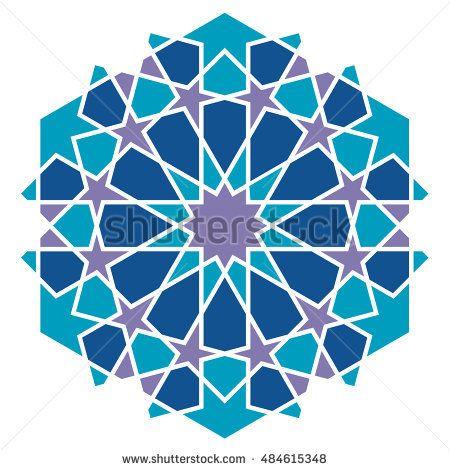 Arabic Geometric Pattern Islamic Style Islamic Patterns Islamic Art Pattern Geometric Drawing