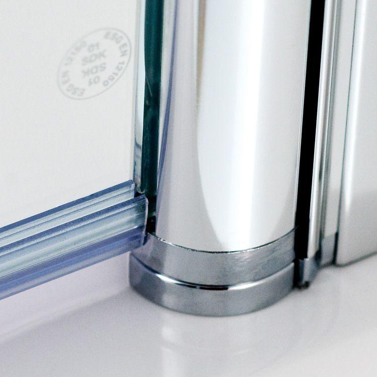 HSK Exklusiv Pendeltür klar hell / silber matt, WEM 88,5-90,5 cm - schiebetüren für badezimmer