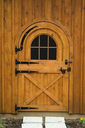 The Front Of The Barn Includes 4 X 7 Round Top Dutch Doors