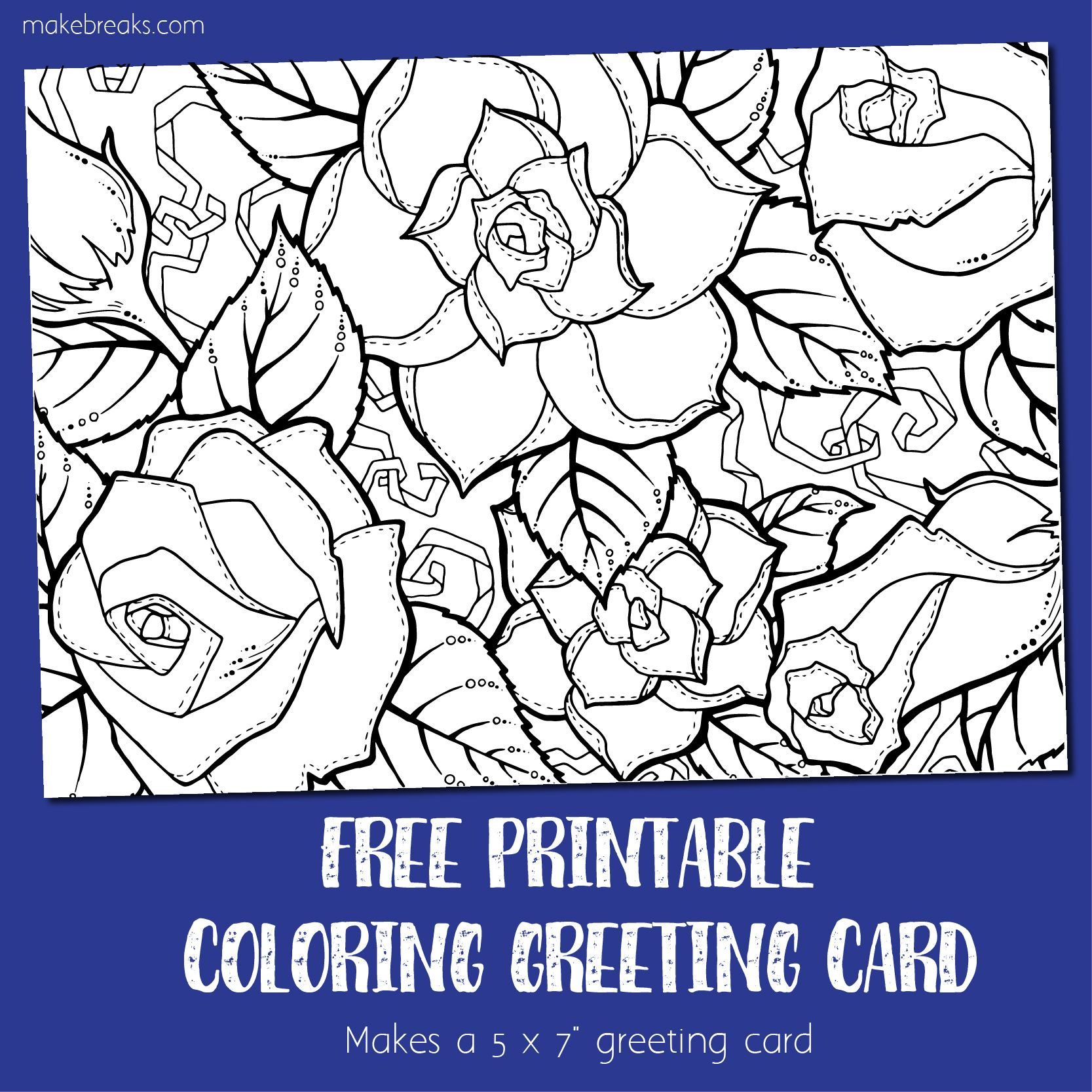 Coloring card 3 greeting card to color roses color card coloring card 3 greeting card to color roses m4hsunfo