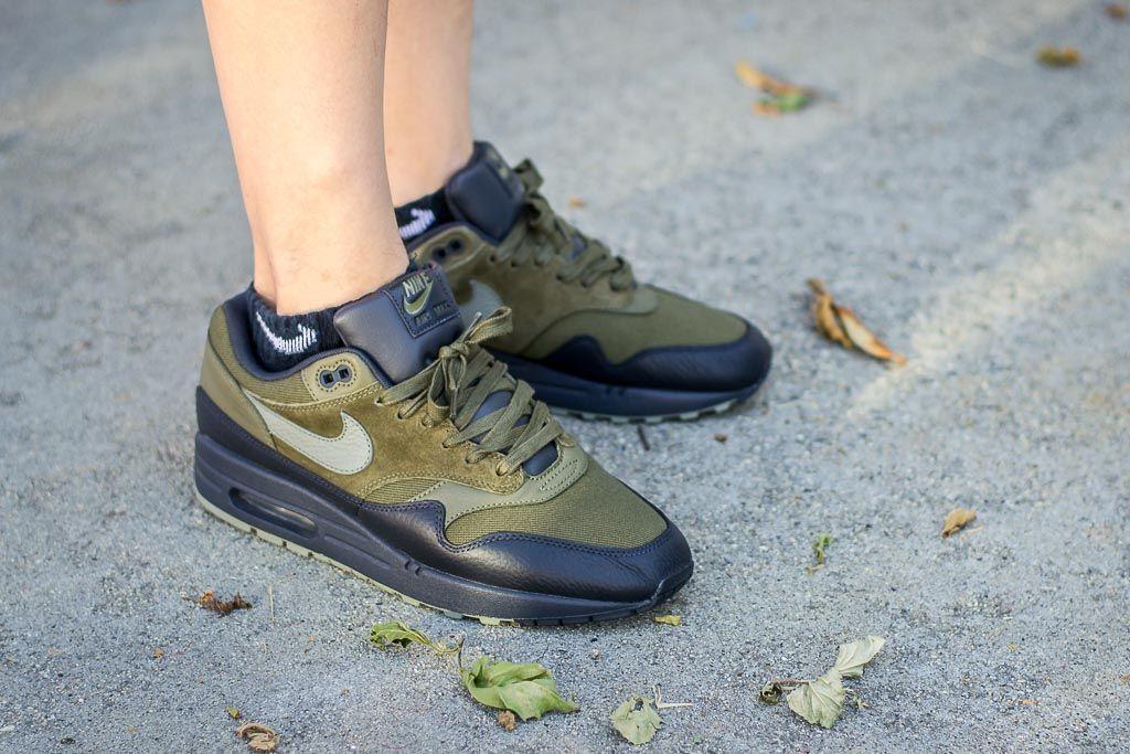 Nike Air Max 1 Premium Dark Stucco On Feet Sneaker Review