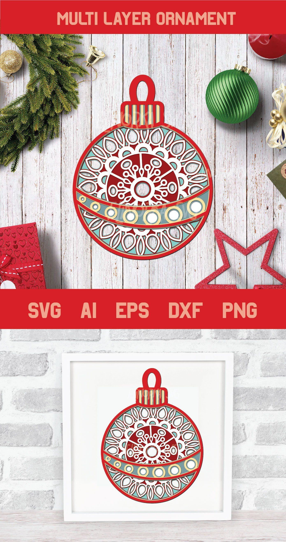 Multilayer Layered Christmasmandalasvg Christmasornamentsvg Ornamentsvg 3d Christmassvg Merrychristm Cricut Christmas Ideas Cricut Crafts Christmas Svg