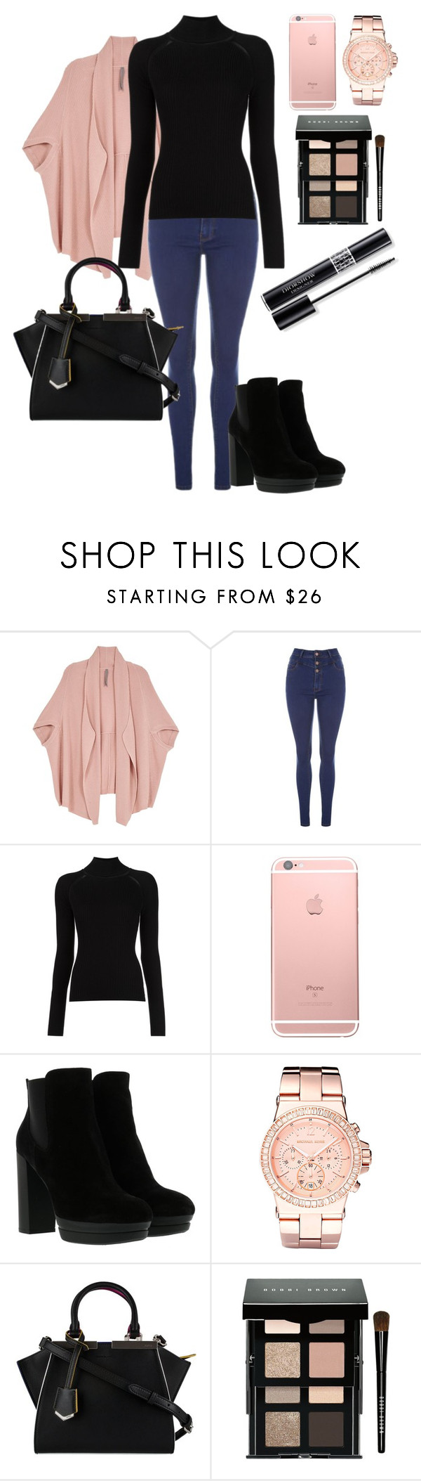 """""""work"""" by meen16 ❤ liked on Polyvore featuring Melissa McCarthy Seven7, Misha Nonoo, Hogan, Michael Kors, Fendi, Bobbi Brown Cosmetics, Christian Dior and plus size clothing"""