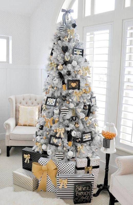 Black Yellow White White Christmas Decor Amazing Christmas Trees Black Christmas Trees