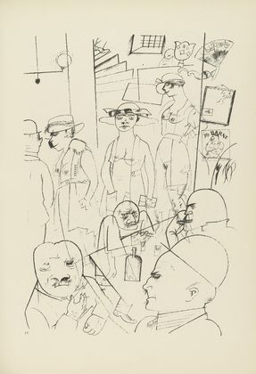 George Grosz. Plate 34 from Ecce Homo. 1922-1923 (reproduced drawings and watercolors executed 1915-22)