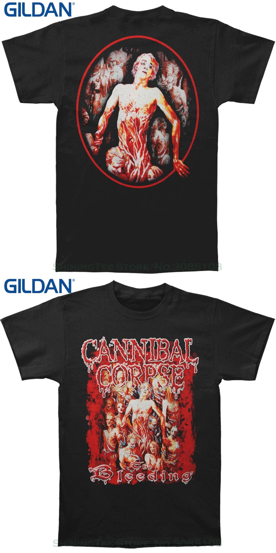 a095d1a3e GILDAN Style Vintage Tees Short Sleeve Funny Cannibal Corpse Men's The  Bleeding T-shirt Black