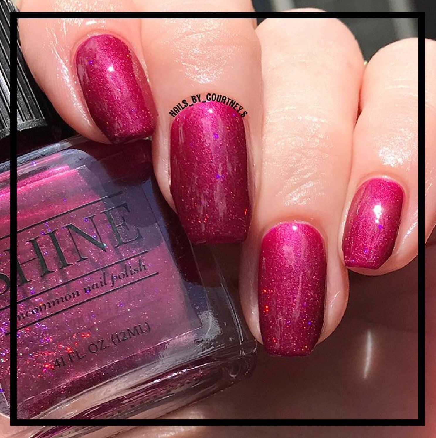 Ruby Slippers Deep Red Purple Holographic Glitter Nail Polish | Ruby ...