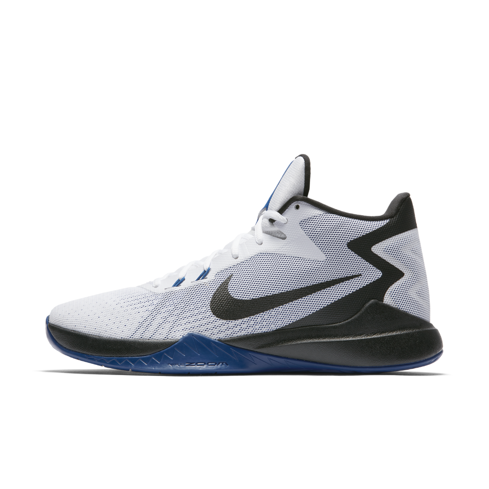 f449c81a114a Nike Zoom Evidence Men s Basketball Shoe Size 10.5 (White) - Clearance Sale