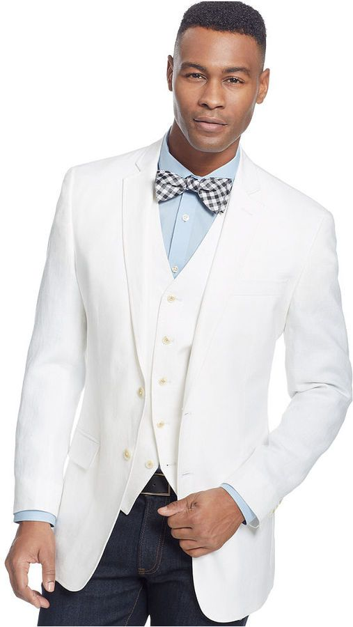 Sean John Color Linen Blazer Big And Tall On Shopstylecom Men