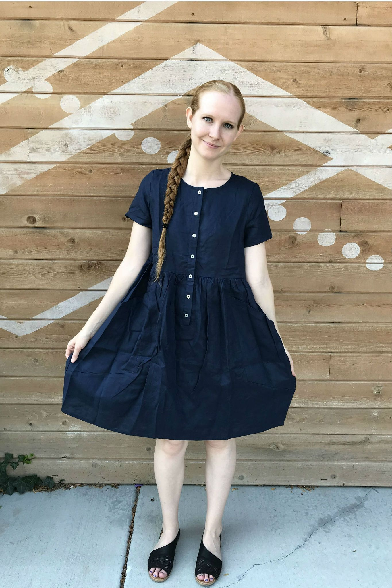 6ad64a83866 Fall is in the air at Cleo Madison with these new arrivals. Add the Austria  Linen Dress in Navy to your wardrobe today!  dresses  navy  nursingclothes  ...