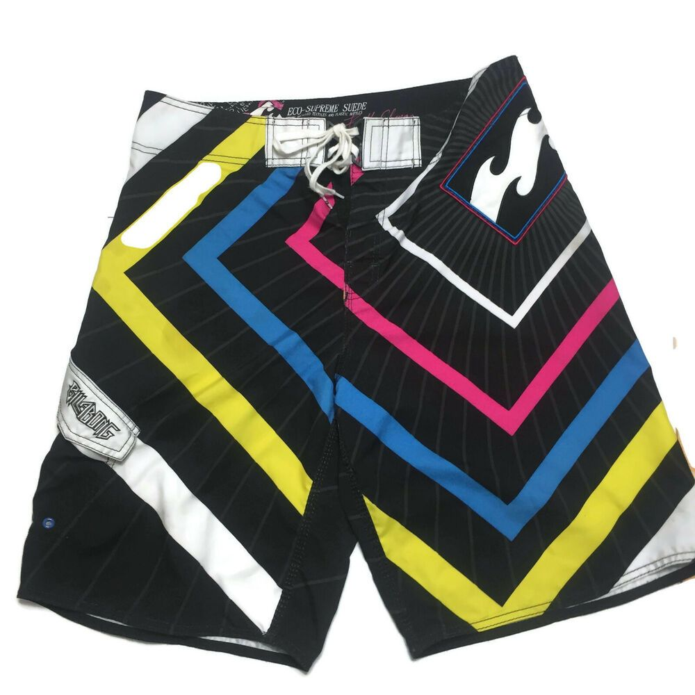 Boys Colorful Plaid Cargo Swim Trunks Board Shorts