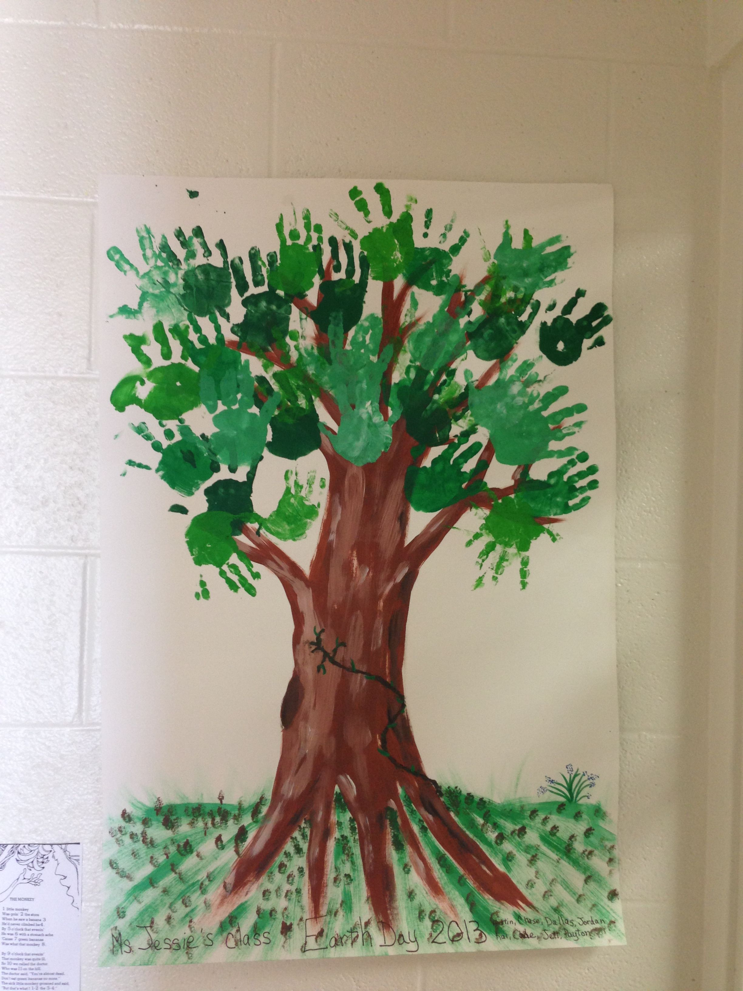 Earth day activity for little hands! I did this today with my ...