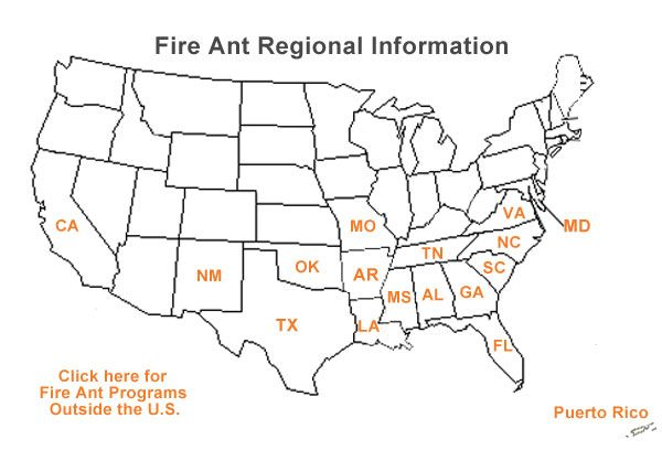 Where are fire ants? This map will help you see where they