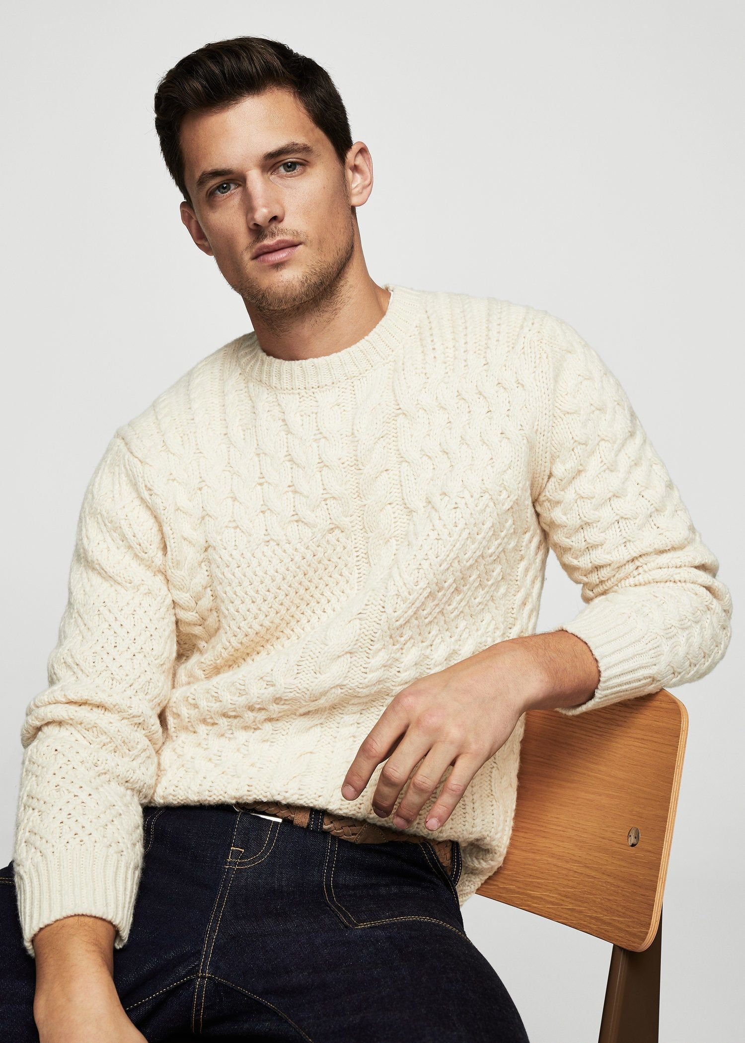 Jersey lana ochos - Hombre | Tricot | Pinterest | Lana, Mangas ...
