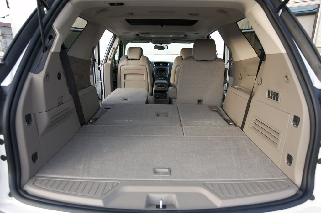 Gmc Acadia Interior Holy Cargo Space Even W The 3rd Row Up New