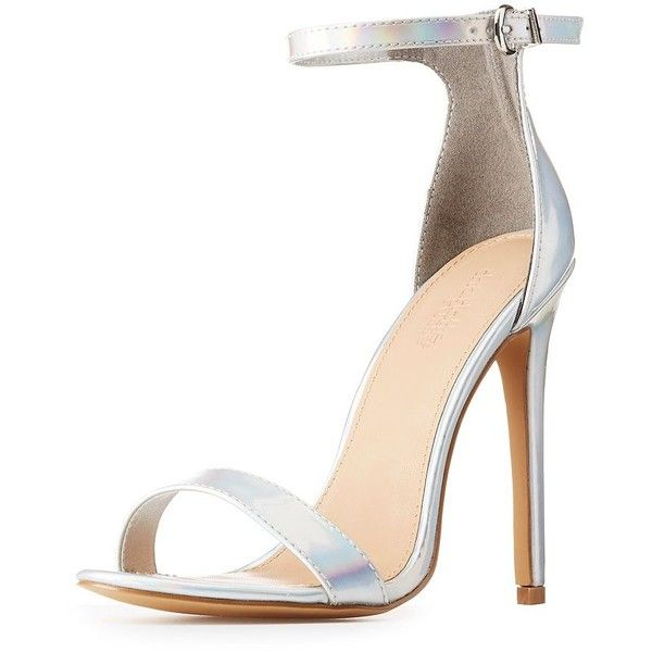 f9aca7cafad Charlotte Russe Holographic Two-Piece Sandals ( 29) ❤ liked on Polyvore  featuring shoes