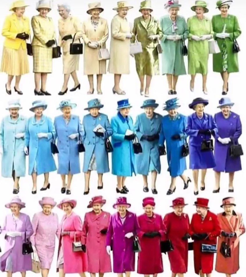 Esse Pantone Real E Show Surra De Elegancia Hein Dona Rainha Elegancia Cores Moda Casamentoreal Graphic Design Memes Queen Elizabeth Queen
