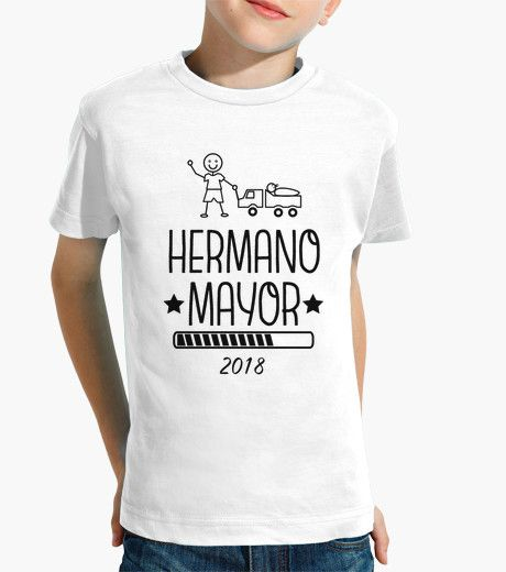 b4678f77 Camiseta Hermano Mayor 2018 blanco | Practical parenting | Playeras ...