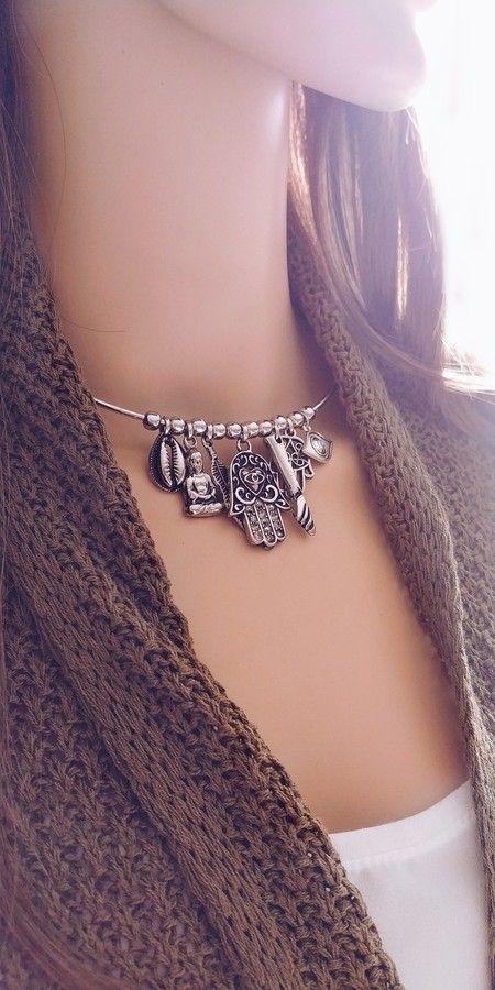 Choker Patuá, colar proteção, Beth Souza acessórios, bijoux modernas, bijuteria  revenda, 9b9d8efd8b