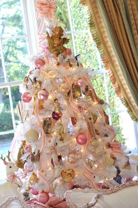 White tree Feminine Essence Pinterest Shabby, Pink