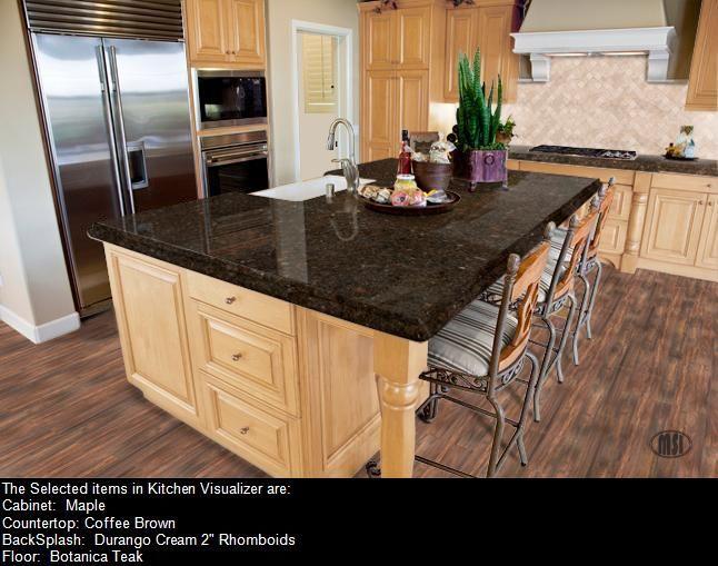 Coffee Brown Granite Maple Cabinet