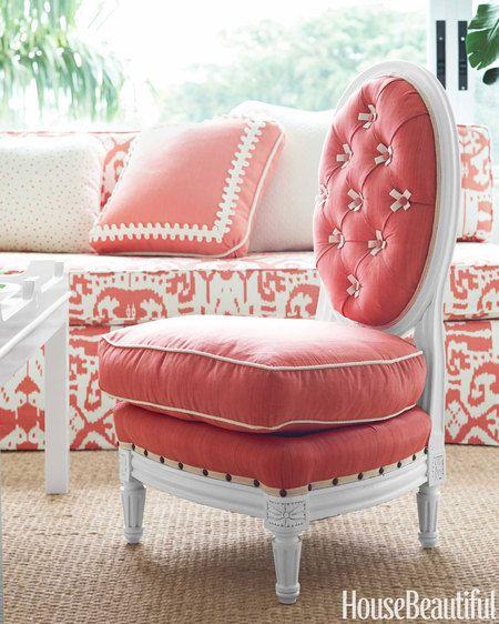 An Ultra-Feminine Palm Beach Apartment | Bamboo furniture, Bird ...