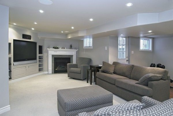 Unfinished Basement Family Room Ideas