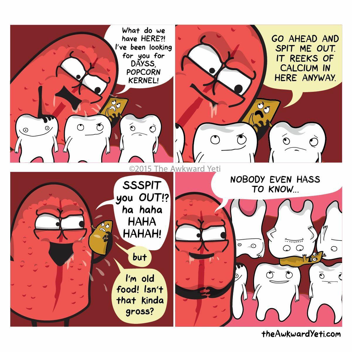 Popcorn | Fun and Randomness | Pinterest | Popcorn, Teeth and Dental