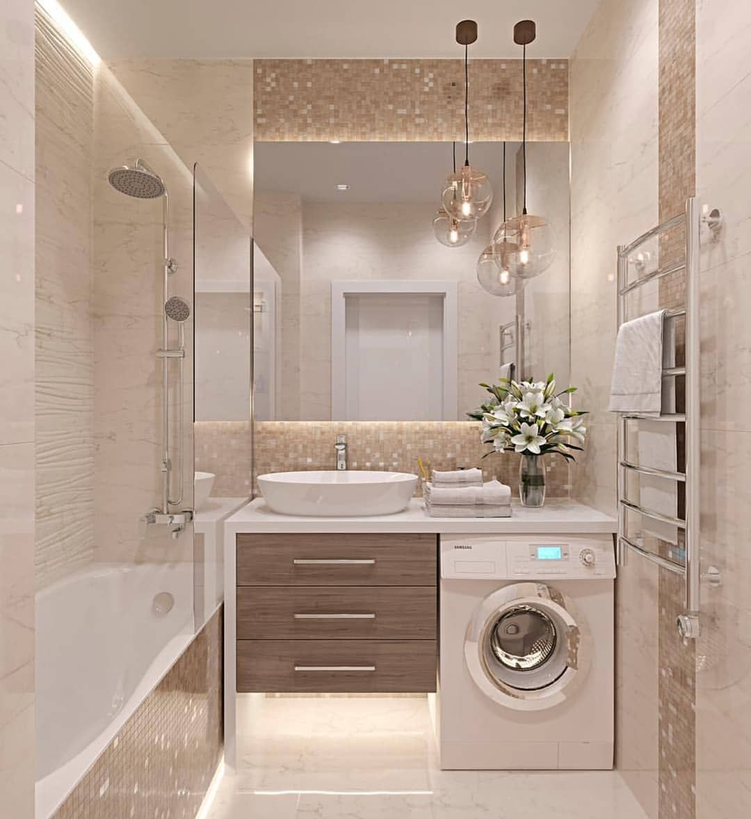 Photo of Kellerwohnung Badezimmer #bathroomlaundry