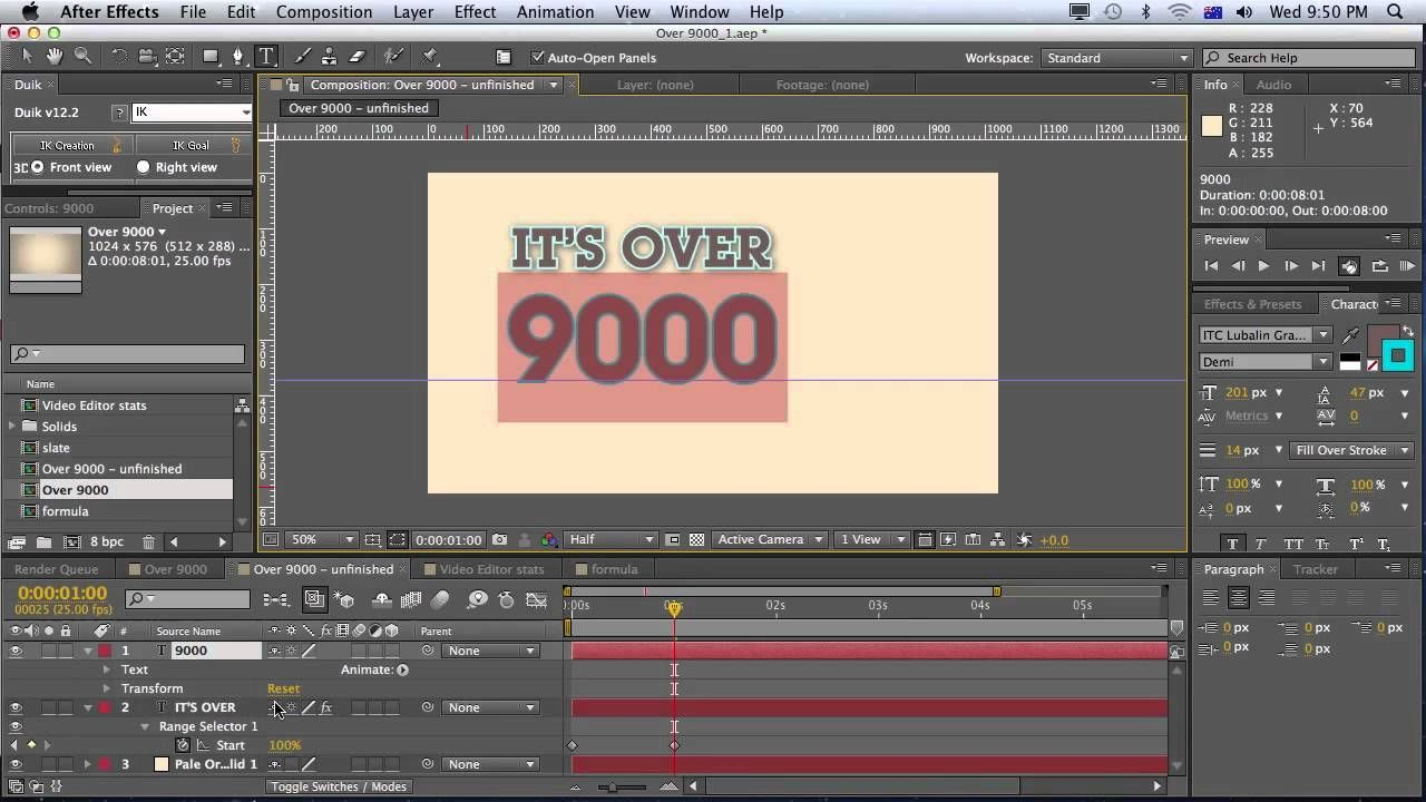 Animating Numbers Counting Up In After Effects Tutorial, Via Youtube