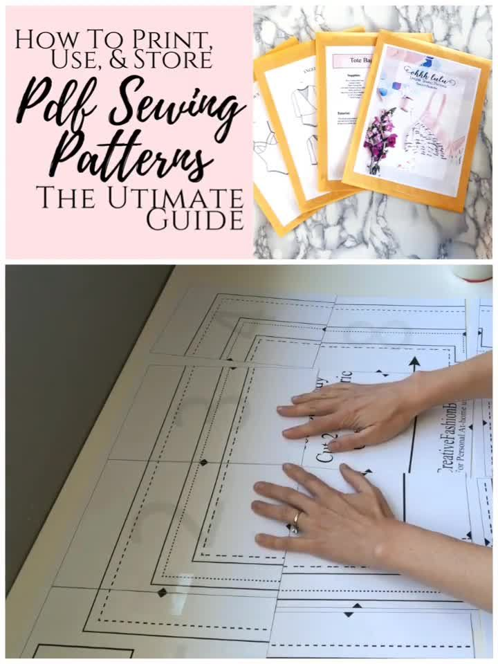 Photo of How to use, print, organize, and assemble pdf sewing patterns