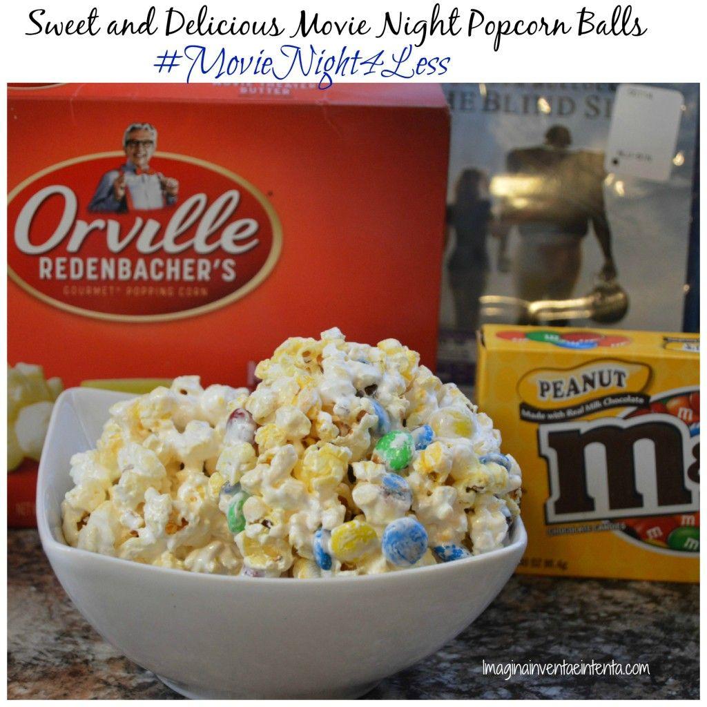Sweet And Delicious Movie Night Popcorn Balls Movienight4less Appetizer Recipes Delicious Movie Night Popcorn