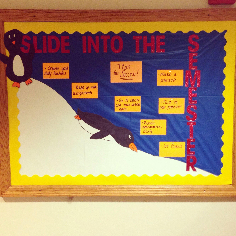 January Bulletin Board Slide Into The Semester Boards Ra Ideas Bulleting