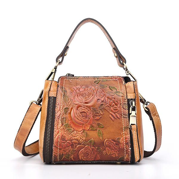 7f1d4d610b3e Brenice Women Genuine Leather Hand Embossed Crossbody Bag - Banggood Mobile