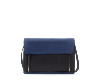 ZARA - NEW COLLECTION - COMBINATION SUEDE MESSENGER BAG