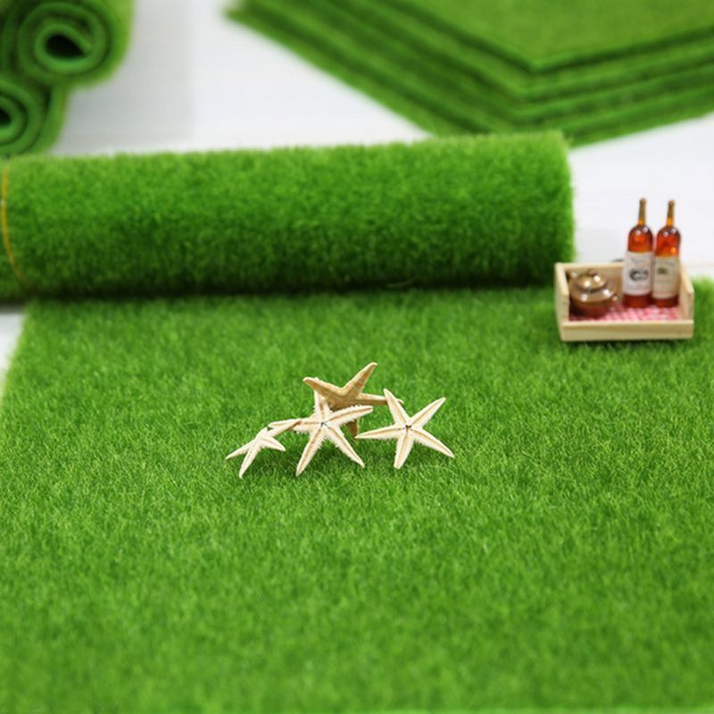 Fake Grass For Crafts In Artificial Grass Fake Lawn Miniature Fairy Garden Dollhouse Ornamen Craft Decor