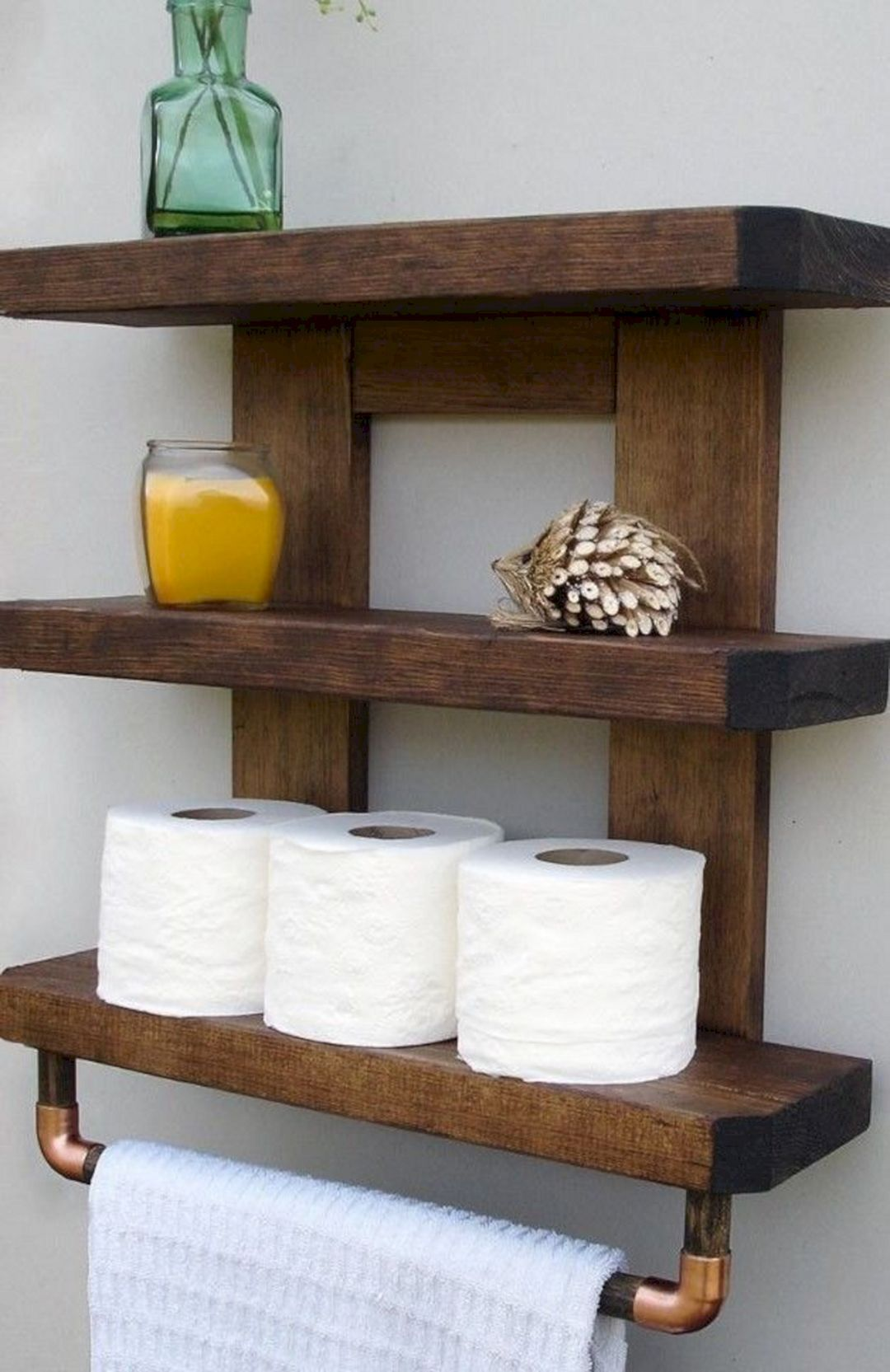 20 Extraordinary Rustic Bathroom Wall Shelves And Organization
