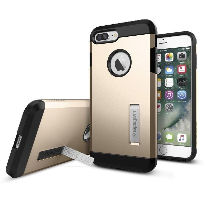 3edd64ce350 Spigen Tough Armor, Back Cover Mobile Case, for iPhone 7 Plus, Champagne  Gold