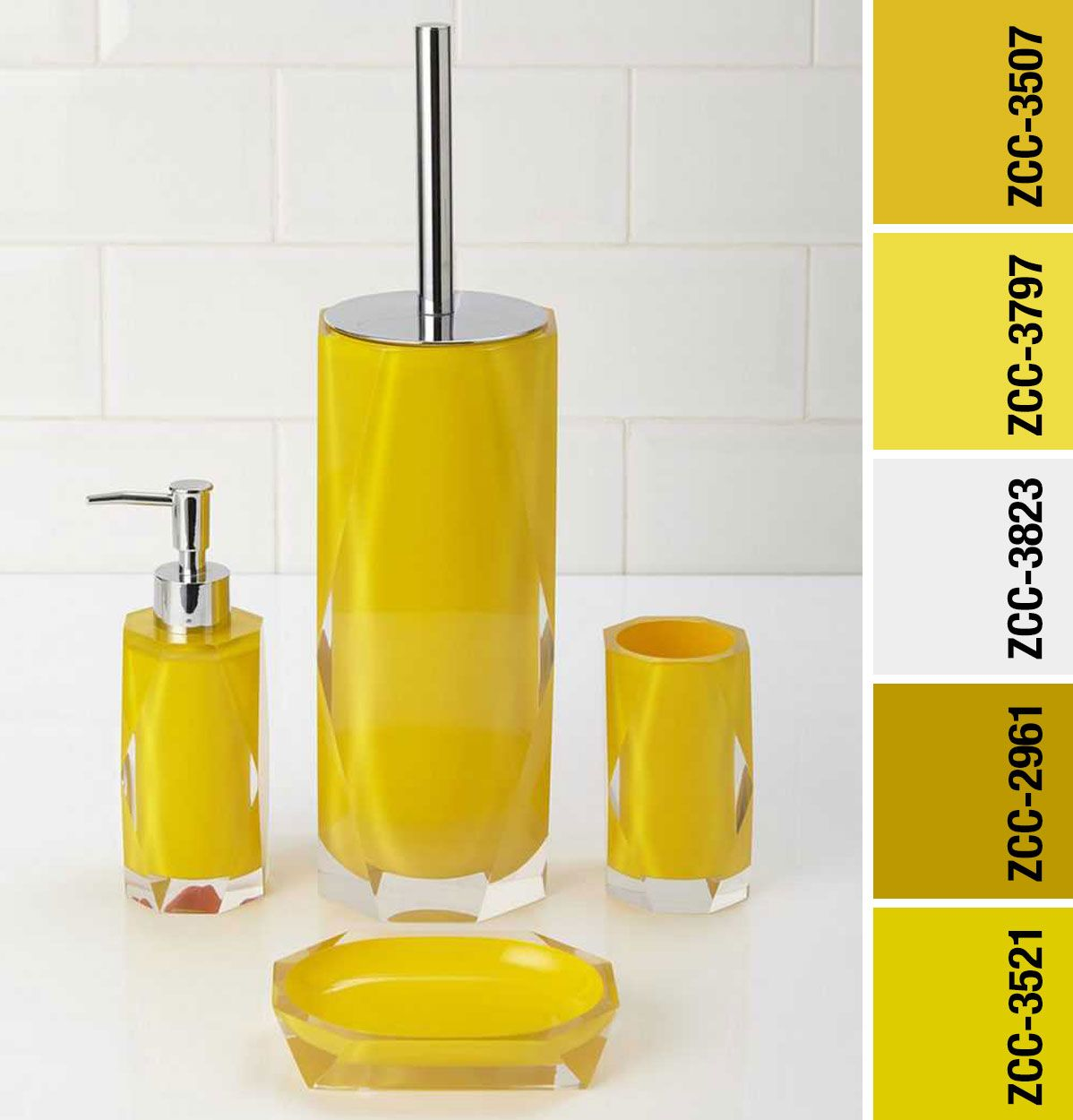 Pin by Z 🌸 on ΜΠΑΝΙΟ in 9  Yellow bathroom accessories