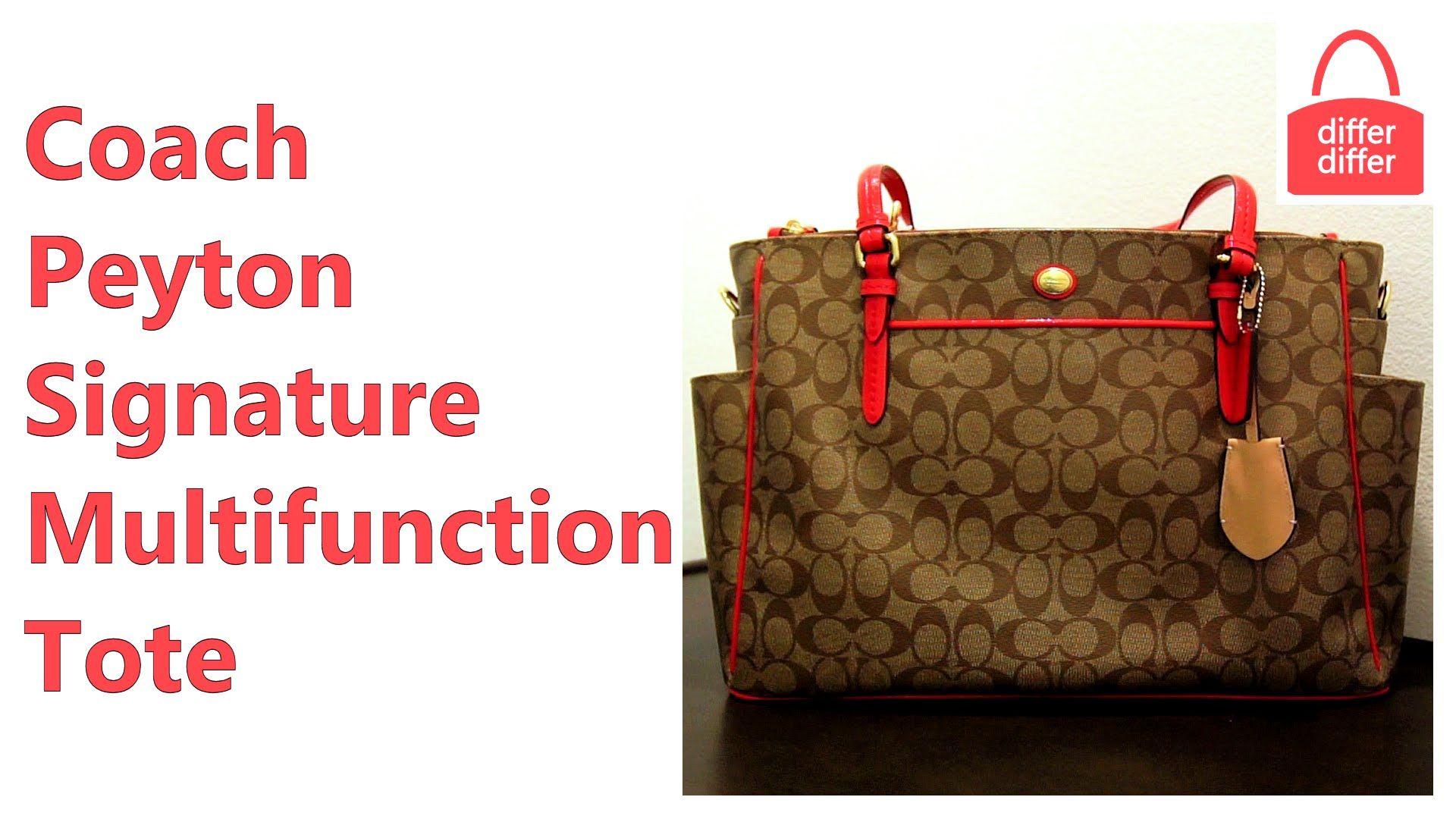 Coach Peyton Signature Multifunction Tote handbag videos