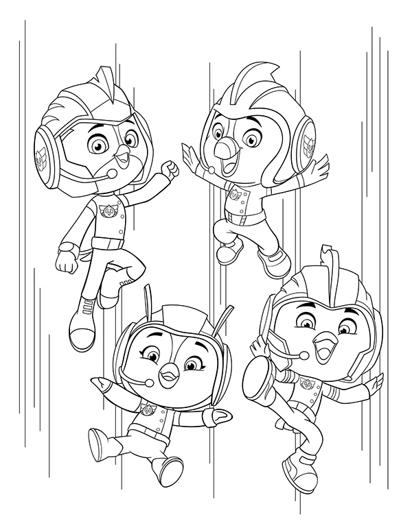 erik doescher  top wing  paw patrol coloring pages