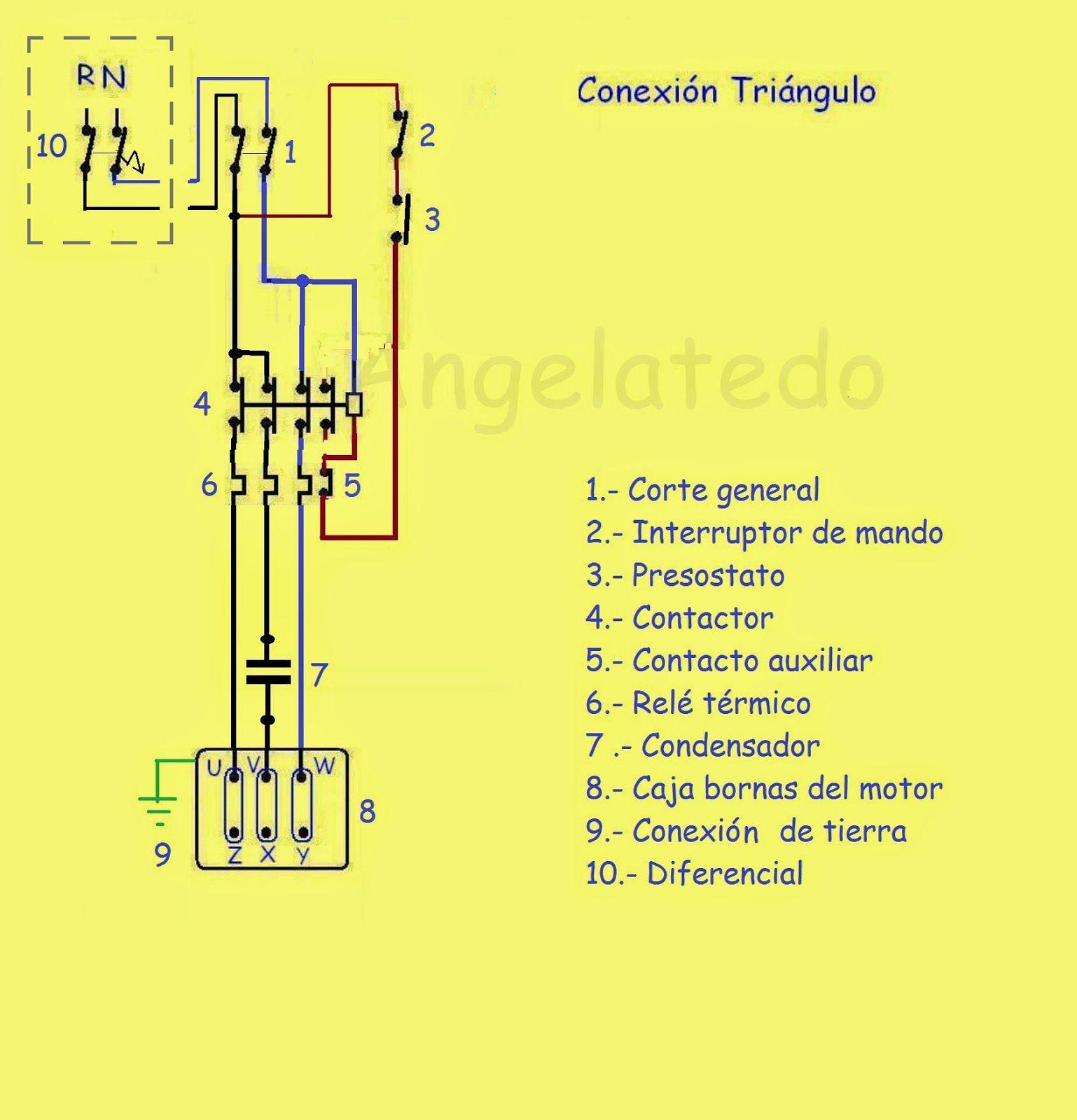 Resultado De Imagen Para Conexiones Para Motores Trifasicos Motor Trifasico Motores Electromecanica