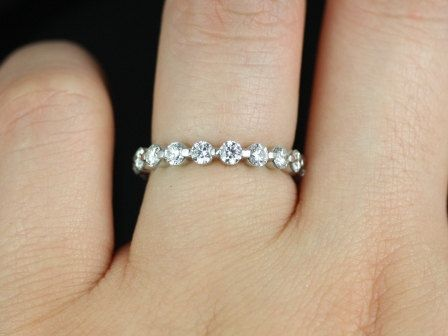 Original Naomi Bubble Breathe 14kt White Gold Diamonds ALMOST Eternity Band Other Metals And Stone Options Available